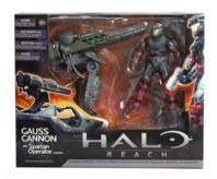 HALO REACH SERIES 3 - WARTHOG GAUSS CANNON WITH SPARTAN OPERATOR